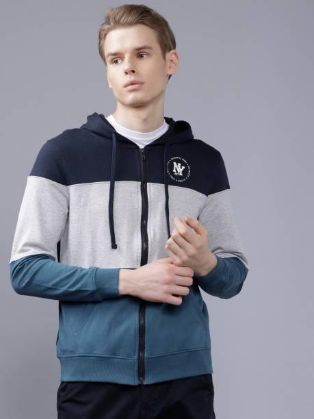 The Indian Garage Co. Full Sleeve Color Block Men Sweatshirt