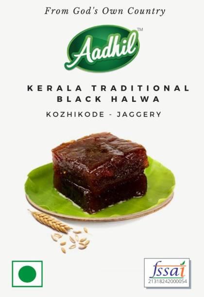 Aadhil Kozhikode Traditional Jaggery Black Halwa Kerala Box