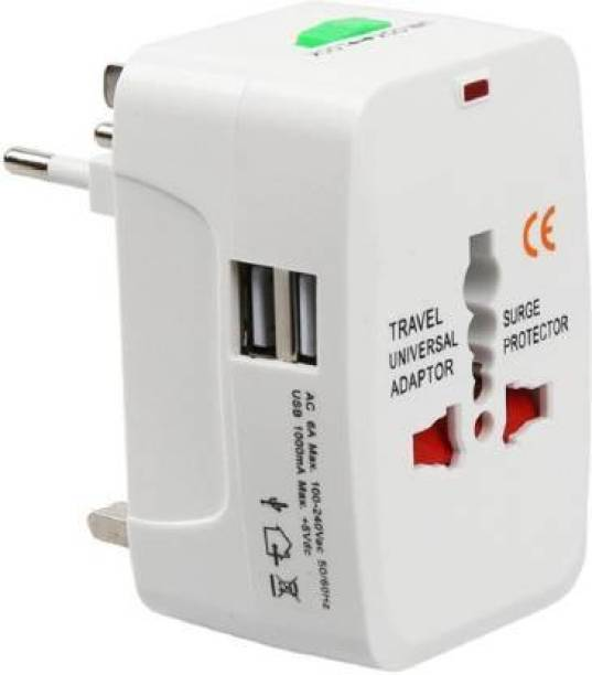Tdoc Universal Worldwide International Travel Adapter Plug (All in One -Supports Over 150 Countries Including US, AUS, NZ, Europe, UK) Worldwide Adaptor