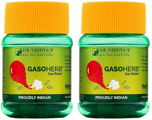 Dr. Vaidya's Gasoherb Pills - Ayurvedic relief from gas - Pack of 2