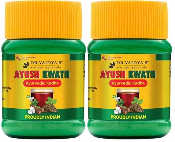 Dr. Vaidya's Ayush Kwath - Ayurvedic Immunity Boosting Kadha Powder - 50 gms Each (Pack of 2)