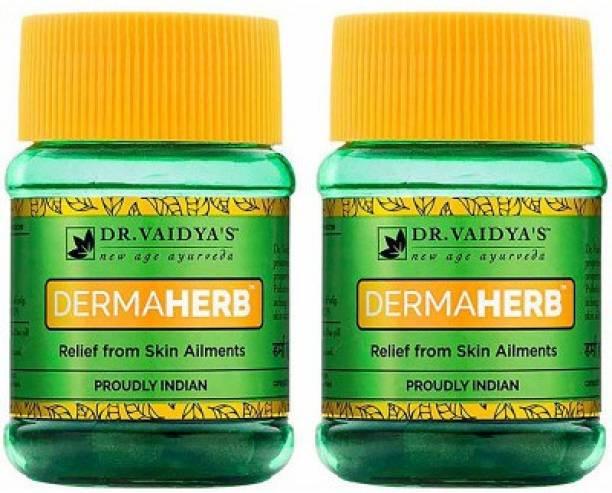Dr. Vaidya's Dermaherb Pills - Natural tretment Skin Allergies & Eczema - Pack of 2