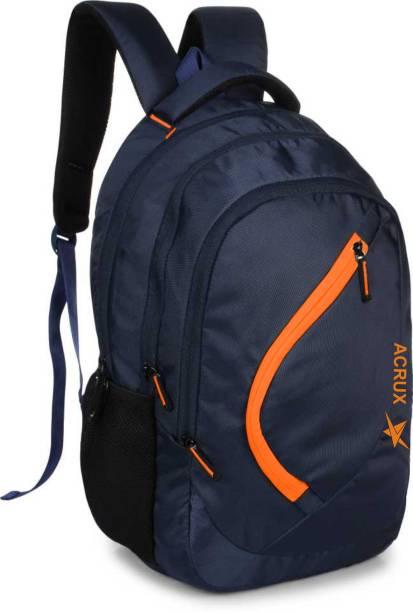 Acrux Troy OrangeNavy Waterproof School Bag
