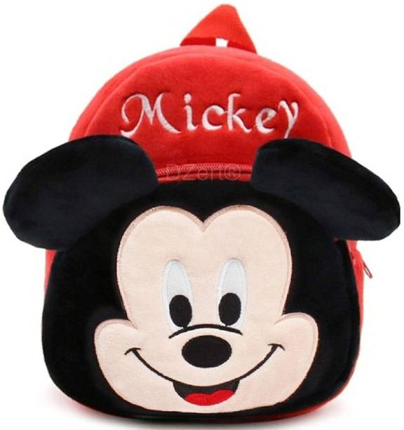 KAIN •MICKEY Bag Soft Material School Bag For Kids Plush Backpack Cartoon Toy   Children's Gifts Boy/Girl/Baby/ Decor School Bag For Kids(Age 2 to 6 Year) and Suitable For Nursery,UKG,NKG Student High Quality School Bag School Bag