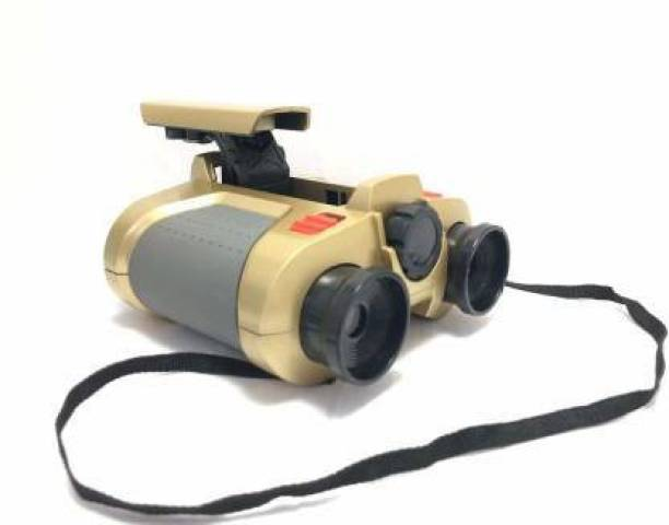 DsentSports Night Scope   Vision 4x30 Scope Binoculars with Light Kids Toy Binoculars (28 mm , Gold) Binoculars