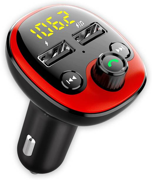 Crust v5.0 Car Bluetooth Device with FM Transmitter, Car Charger, Audio Receiver, MP3 Player, Adapter Dongle, Transmitter