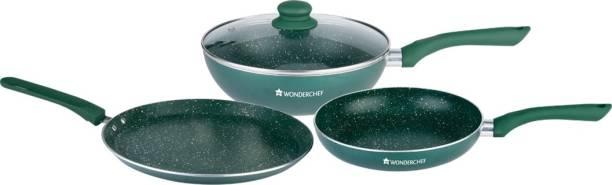 WONDERCHEF Royal velvet plus set olive Green Cookware Set