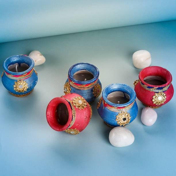 Anil Rakhi Terracotta (Pack of 6) Table Diya Set