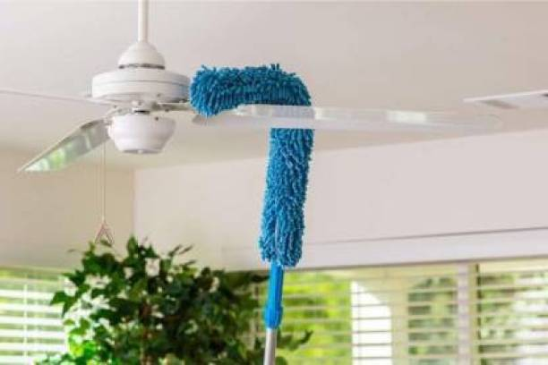 MALOCK Cleaning Brush Feather Microfiber Duster with Extendable Rod Dust Cleaner Fit Ceiling Fan Car Home Office Cleaning Tools Wet and Dry Duster Wet and Dry Duster