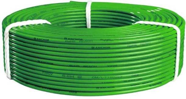 Anchor By Panasonic Advance FR 0.75 Sq.Mm. Yellow 90 Meters Electrical Wire Green 90 m Wire