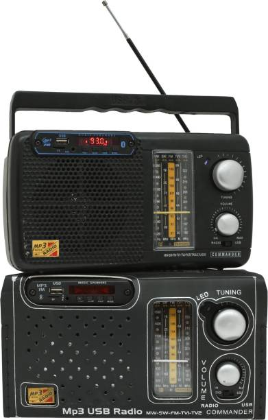 Night Guard 5 band Rechargeable/MW/SW/Radio/bluetooth Multimedia Speaker with USB,SD Card,Aux available with cell,cover,remote,charging cable FM Radio