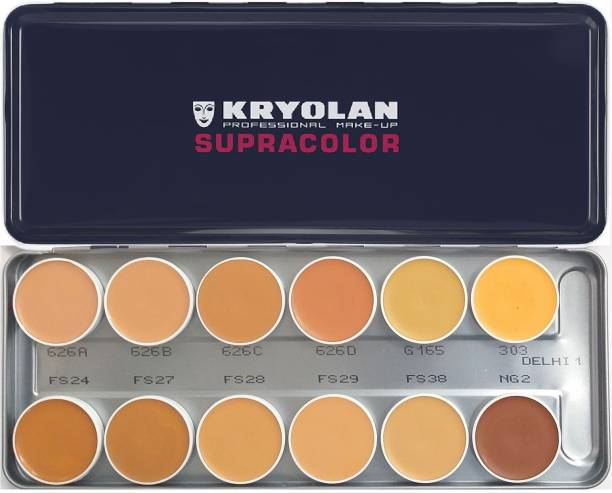 KRYOLAN SupraColor Foundation Palette 12 Color ( Delhi-1 ) Foundation