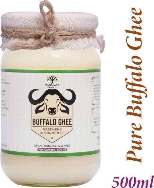 Vanalaya Pure Buffalo Ghee Made from Buffalo Milk by Traditional Bilona method Ghee 500 ml Glass Bottle