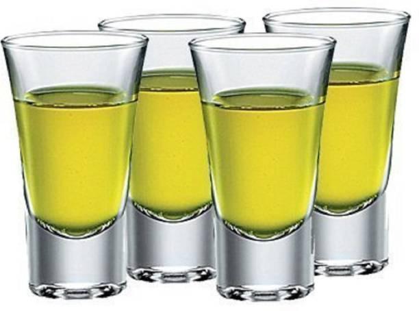 BRIGHTLIGHT (Pack of 4) Shot Glass Set - Ideal for Vodka, Whisky - Heavy Base (Pack of 4) Glass Set