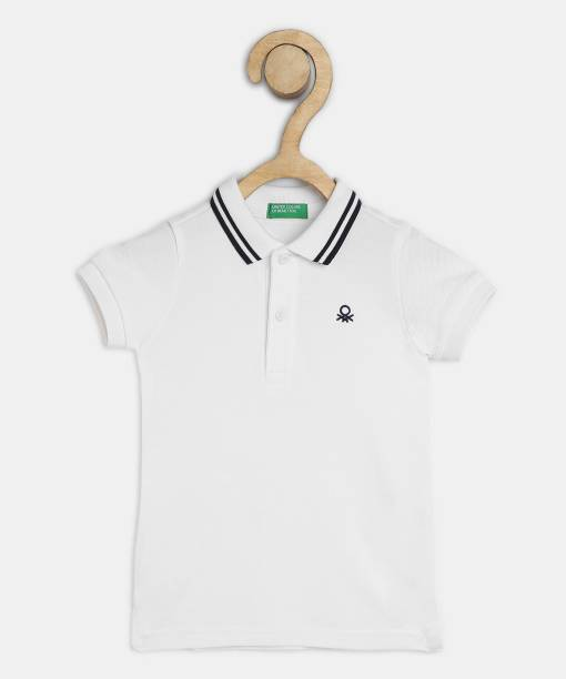 United Colors of Benetton. Boys Solid Pure Cotton T Shirt
