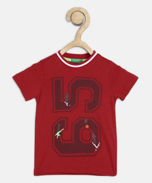 United Colors of Benetton Boys Solid Pure Cotton T Shirt