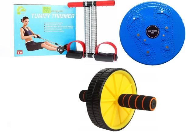 Manogyam Acupressure Tummy Twister, AB Wheel Roller & Tummy Trimmer Gym & Fitness Kit