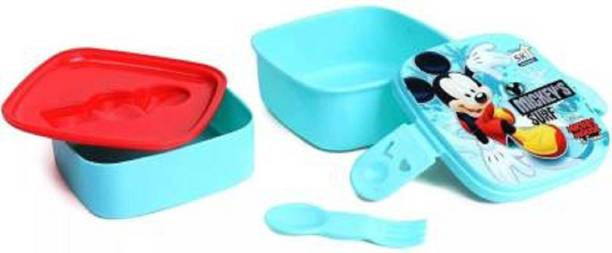 Rockjon Mickey Mouse lunch box 1 Containers Lunch Box (550 ml) 2 Containers Lunch Box
