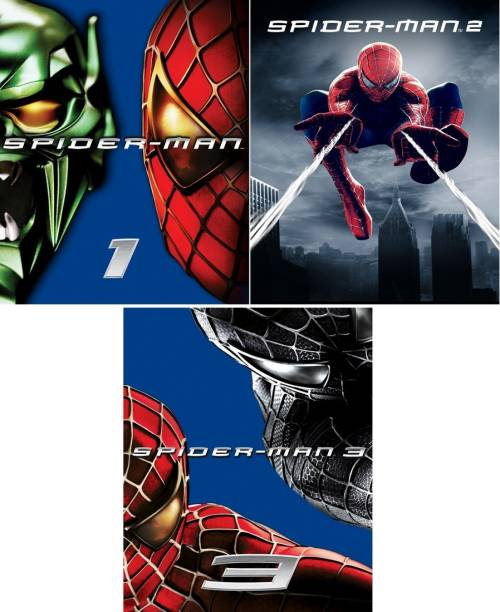 Spider-Man - 1 , 2 , 3 (3 movies) dual audio Hindi & English clear voice & print it's burn data DVD play only in computer or laptop it's not original without poster ( HD Print )