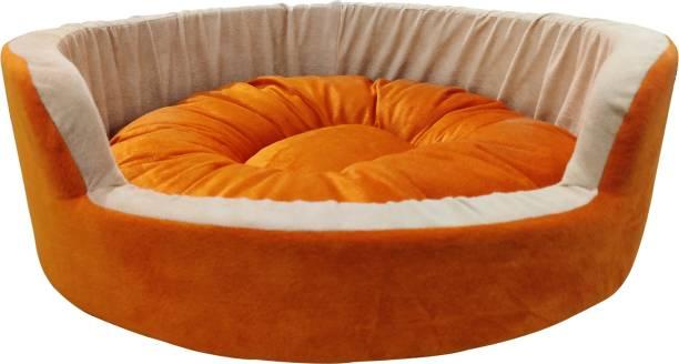 Dogerman Velvet Durable Round Soft Dog Cat Pet Bed Medium M Pet Bed