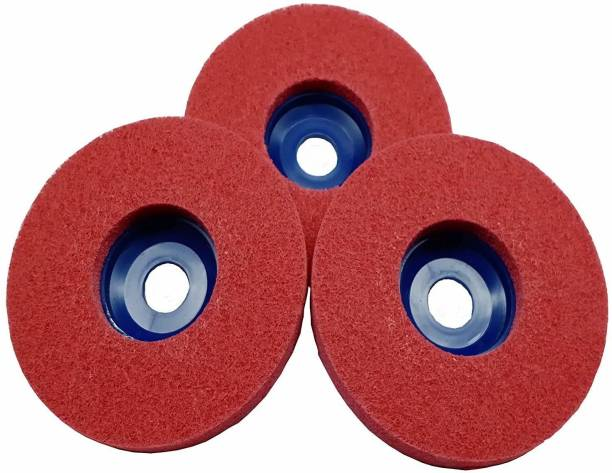 INDITRUST Non Woven Polishing Wheels For Metal Stainless Steel Polish And Rust Removal And Red Color Angle Grinder Tool Angle Grinder