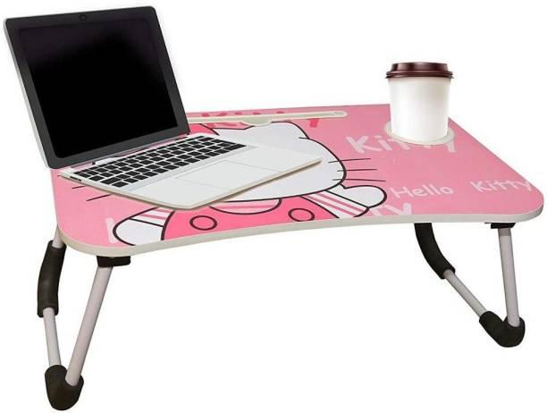 KAIZONE Portable Cartoon Table Wood Portable Laptop Table