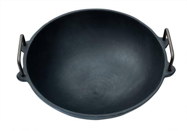 Mr. Butler Natural Cookware Pre-Seasoned Cast Iron 11 Inch Black, Kadai/ Wok, 3L Capacity 27.94cm Diameter Kadhai 27.94 cm diameter 3 L capacity