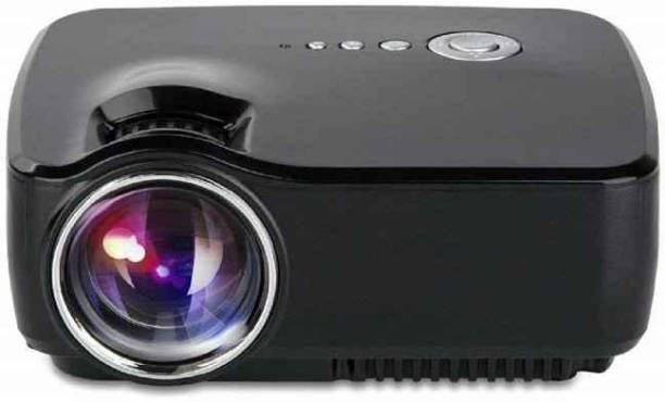 Duksi High-Quality with Cable TV/ Dish TV Option HDMI VGA USB INBUILT Speaker With 1 Year Warranty Portable Projector