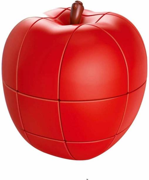 Smartcraft Apple Cube Puzzle, Fruit Shape Stickerless Apple Cube Magic Puzzle Toy (Apple Cube)- Red