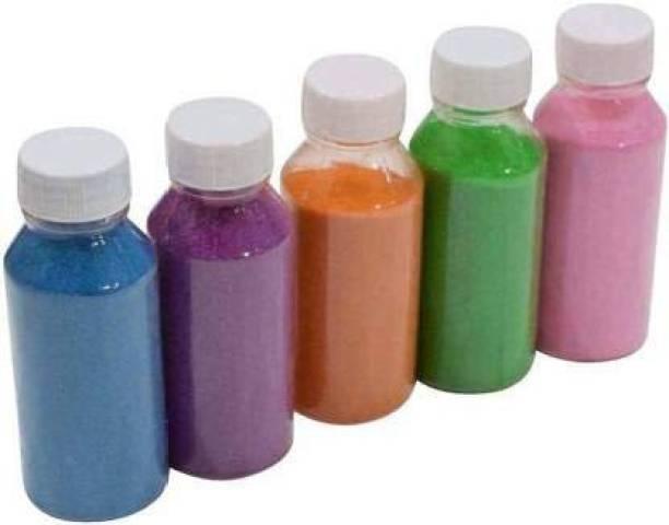 Jars Collections Pack of 5 Rangoli Powder