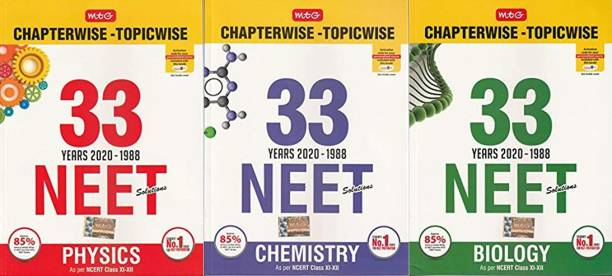 33 Years NEET-AIPMT Chapterwise Solutions -Physics, Chemistry, Biology 2020