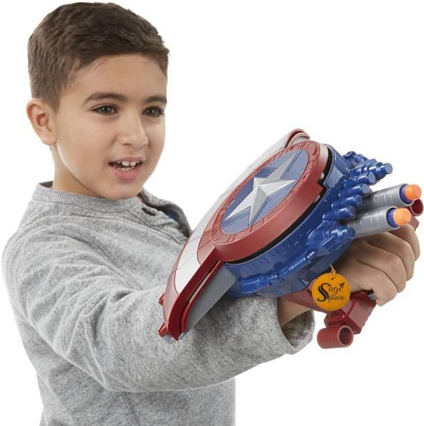 Balloonistics Special Edition Avenger's Captain America Civil War Blaster Shield Gun    10 Additional Darts Included