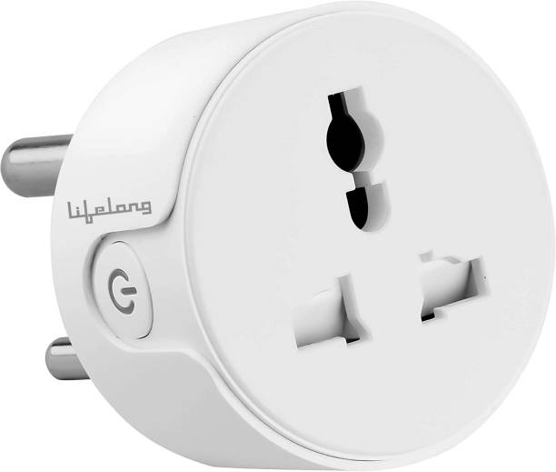 Lifelong 10A Smart Plug Suitable for Low Power Appliances such as Televisions, Electric kettle, Table fans, Set top box, Air purifiers(Compatible with Alexa and Google Assistant) Smart Plug