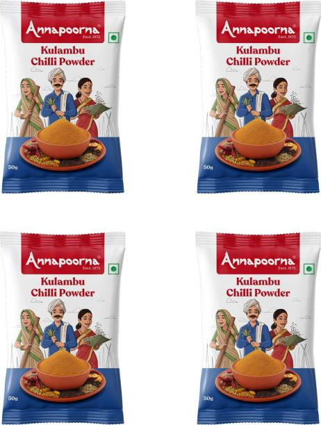 Annapoorna Kulambu Chilly Powder 50gms Pack of 4