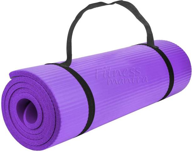 Fitness Mantra 6MM Anti Skid Yoga , Exercise & Gym Mat with Strap Purple 6 mm Yoga Mat