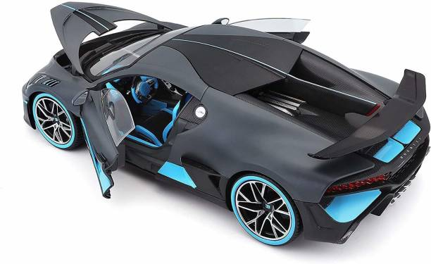 ATRI 1:32 Scale Die-cast Metal Model Bugatti Divo Sport Pull Back Car Toy with Openable Doors, Light and Sound Effects for Boys Girls Kids (Black, Pack of: 1)