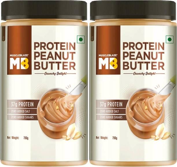 MuscleBlaze Peanut Butter Pack Of 2, Cruncy Delight 750 g