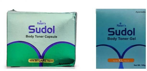RATANS Sudol Body Toner Gel-100 gm with 90 capsules