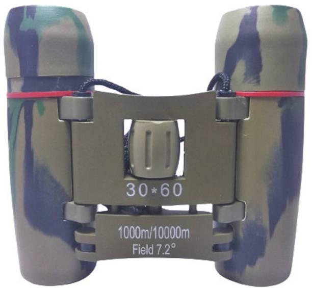 Protos India.Net Binocular For Long Distance Folding Mini Army Design Day Vision Zoom Binoculars Binoculars