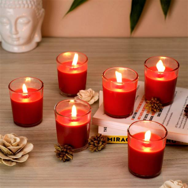 Flipkart SmartBuy Red Rose Votive-6 Candle