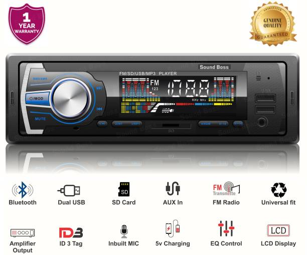 Sound Boss SB-48 Bluetooth Wireless With Phone Caller Id Receiver Car Stereo