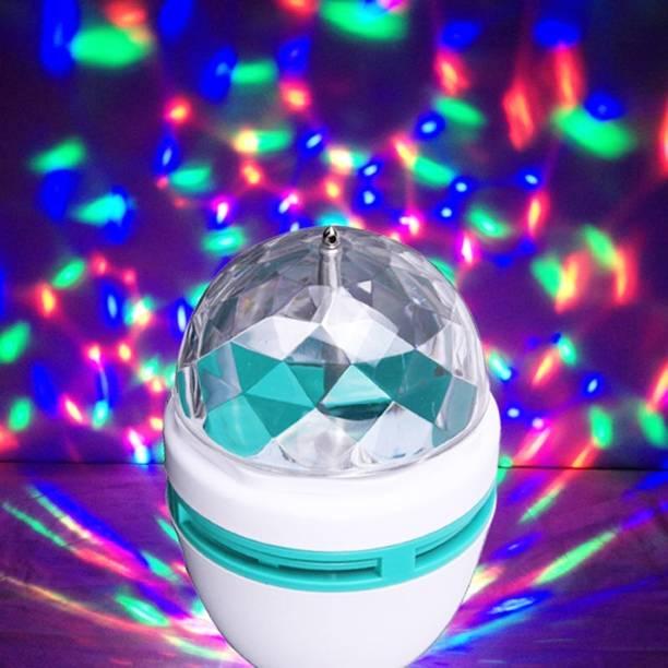 MaalDekho DJ 360 degree rotating led stage light crystal bulb magic disco light,led lamp for party/home/diwali decoration/dance party Single Disco Ball