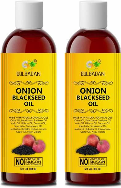 GULBADAN Onion Black Seed Oil Preventing Hair Loss & Promoting Hair Growth (Pack of 2) Hair Oil