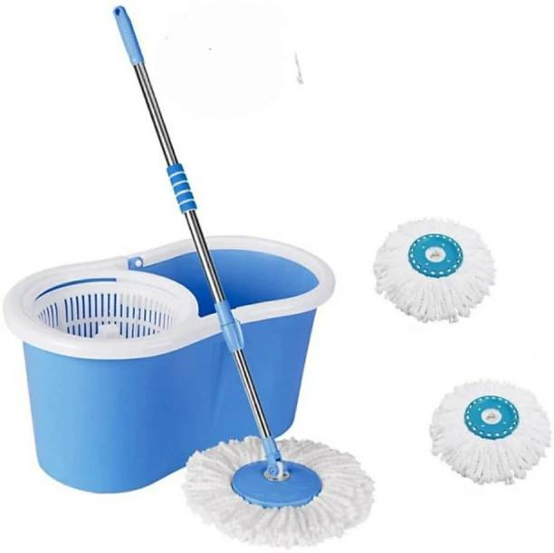 Rorian 360 degree spin mop with durable bucket with extandable handle for perfect cleaning Mop Set, Bucket