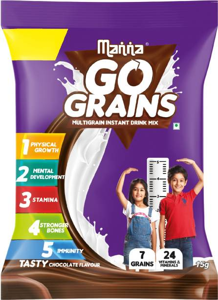 Manna Go Grain- Multigrain Instant Health Drink Mix Chocolate
