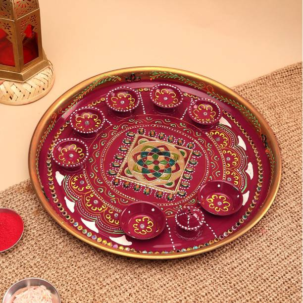 Aurum Pooja thali fancy Stainless Steel