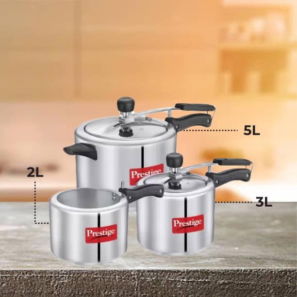 Prestige Nakshatra Plus 2 L, 3 L, 5 L Induction Bottom Pressure Cooker