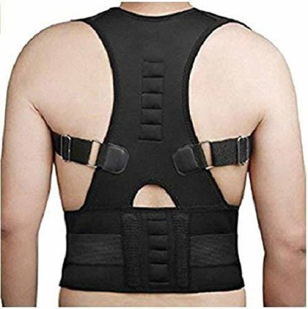 DEAGAN Real Doctors Plus Posture Support Belt Back & Abdomen Support (Black) Back & Abdomen Support