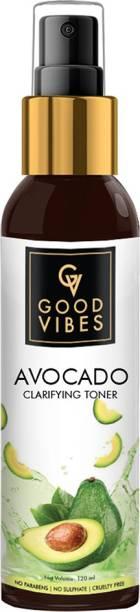 GOOD VIBES Avocado Clarifying Toner (120 ml) Men & Women