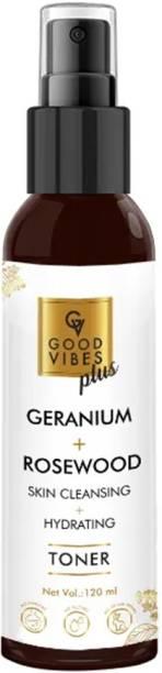 GOOD VIBES Geranium and Rosewood Skin Toner (120 ml) Men & Women